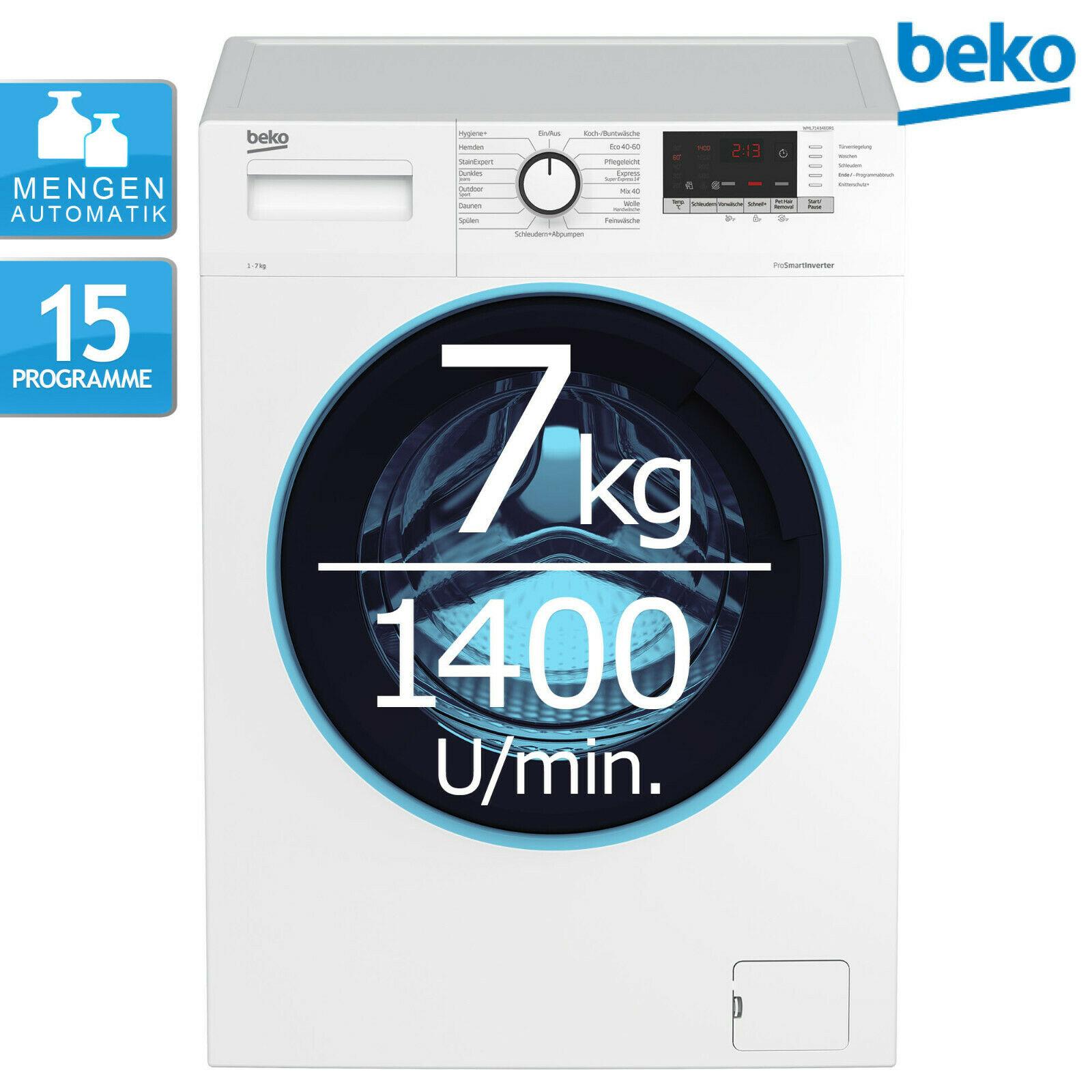 Bild zu 7 kg Waschmaschine Beko WML71434EDR1 für 264,90€ (Vergleich: 388,95€)