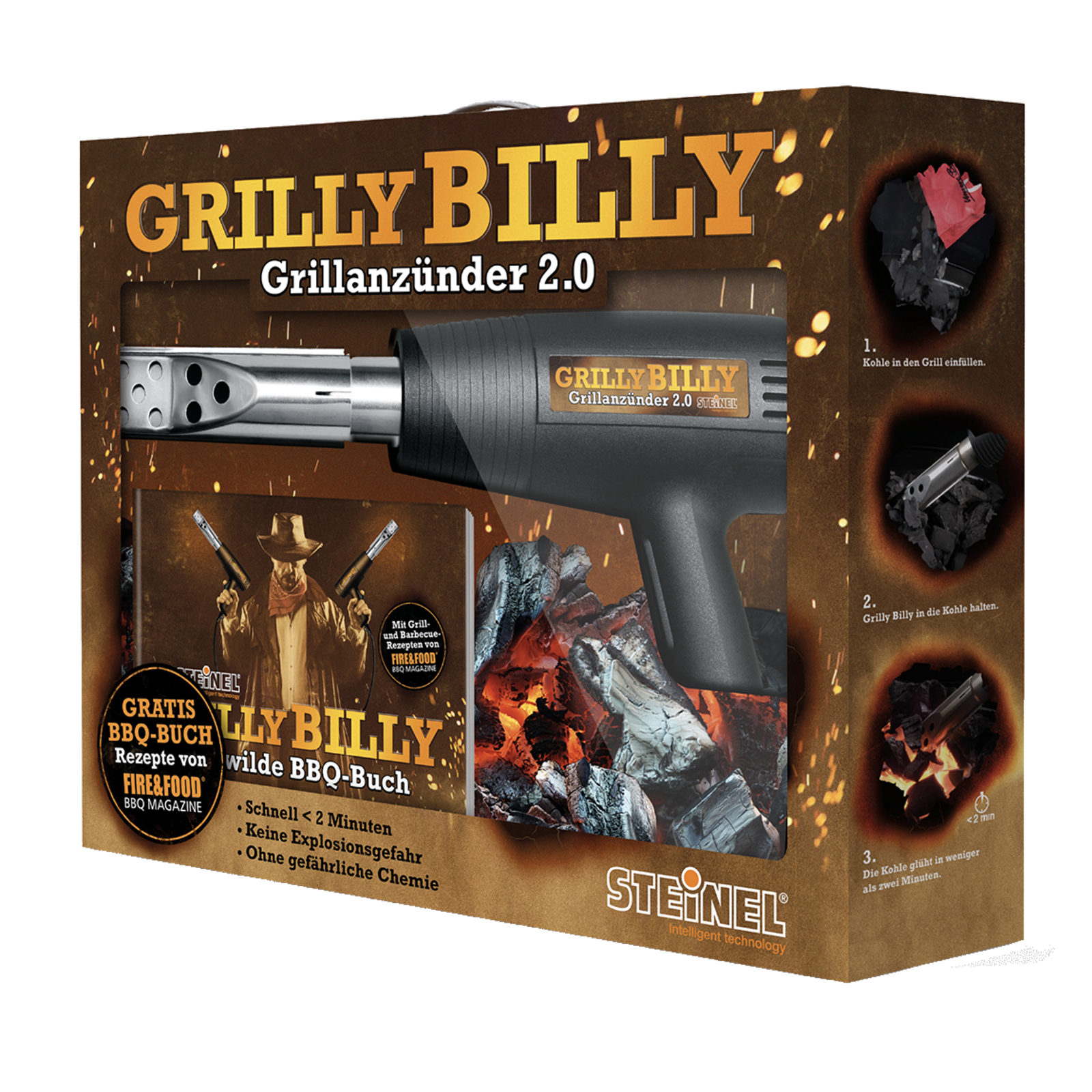 Bild zu Steinel Grillanzünder Grilly Billy 2.0 für 16,99€ (Vergleich: 28,98€)