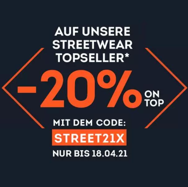 Bild zu SportScheck: 20% Rabatt auf die Streetwear Topseller