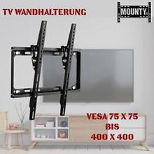 Bild zu TV Wandhalterung (32 – 65 Zoll, neigbar 55″, VESA bis 400 x 400 mm, bis 35 kg)  für 11,99€ inkl. Versand (VG: 13,99€)