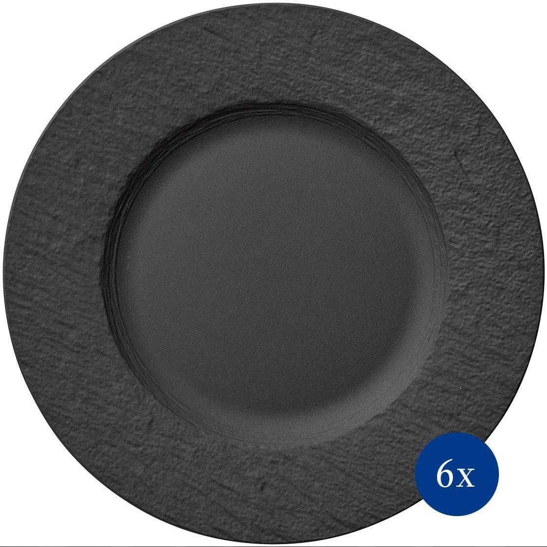 Bild zu 6-teilige Villeroy & Boch Manufacture Rock Speiseteller Set für 69,99€ (VG: 84,99€)