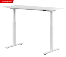 Bild zu WRK21 140×60 cm elektronisch höhenverstellbarer Steh-Sitz Schreibtisch für 335€ (VG: 479€)
