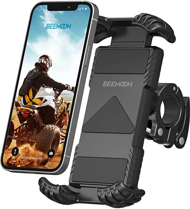 Bild zu Beemoon Fahrrad Handyhalterung (iPhone 12, 12 Pro Max, 11 Pro Max, Samsung S10, S9, S8) für 6,23€