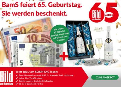 Bild zu [Knaller oder Fehler?] Bild am Sonntag Abo (ab 9,80€) inkl. 65€ Prämie–jederzeit kündbar