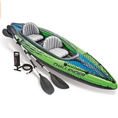 Intex Challenger K2 Schlauchboot - Aufblasbares Kajak - 351 X 76 X 38 cm - 3-teilig Amazon de Sport F[...]