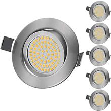 KINGSO LED Einbaustrahler Flach 5W Schwenkbar Deckenspots IP44 Warmweiß Einbauspots LED Bad 3000K 450[...]