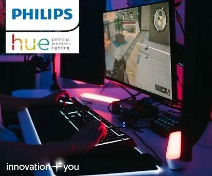 Bild zu Proshop: Philips Hue Light Gaming Sale – z.B. Philips Hue Play Gamer Starter Kit für 160,39€ (VG: 224,33€)