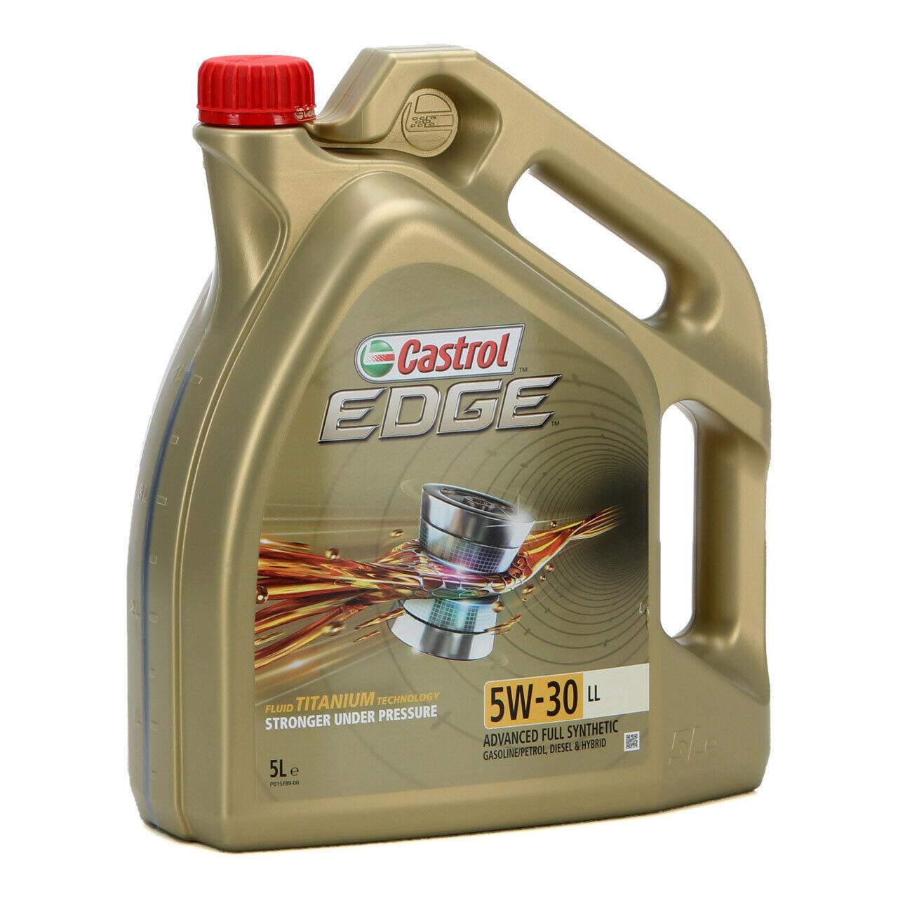 Bild zu 5 Liter Castrol Motoröl Edge Titanium 5W-30 LL für 37,98€ (Vergleich: 42,11€)