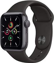 Apple Watch Se (GPS, 40 mm) Boîtier en Aluminium Gris sidéral, Bracelet Sport Noir Amazon[...]