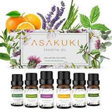 ASAKUKI Ätherische Öle Set 6x10ml, Aromatherapie Duftöl für Diffuser, Befeuchter, Massage[...]