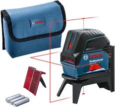 Bosch Professional Kreuzlinienlaser GCL 2-15 (roter Laser, Innenbereich, mit Lotpunkten, [...]