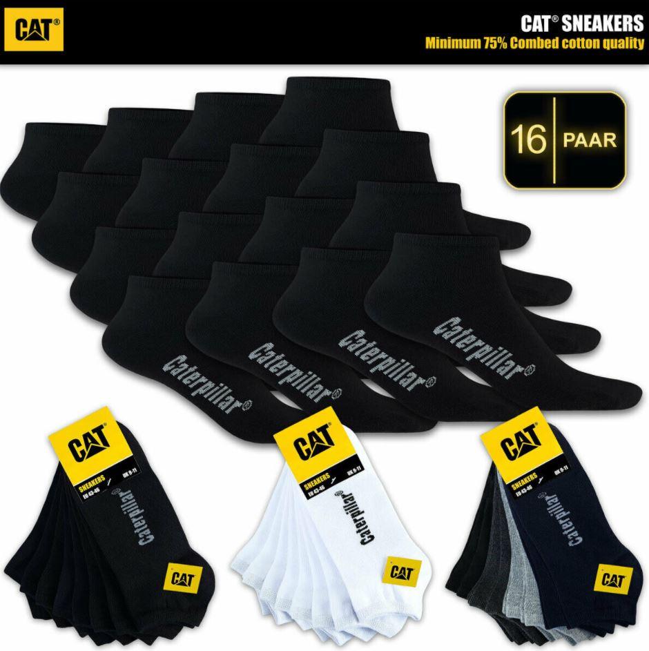 Bild zu 16 Paar CAT Caterpillar Sneakersocken (Gr.: 39 – 50) für 27,90€ (VG: 44€)