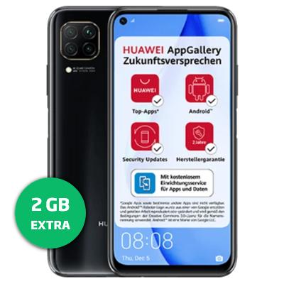 Bild zu Huawei P40 Lite für einmalig 25€ mit 10GB LTE Datenflat, SMS und Sprachflat im o2 Netz für 9,99€/Monat