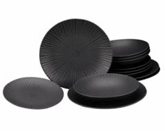 Bild zu CreaTable Tafelservice Vesuvio Elements schwarz (12-teilig) für 34,73€ (Vergleich: 47,95€)