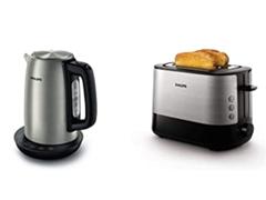Bild zu Philips HD9359/90 Wasserkocher (2200 Watt, 1,7 Liter, Warmhaltefunktion) & HD2637/91 Toaster für 50,99€ (Vergleich: 90,87€)