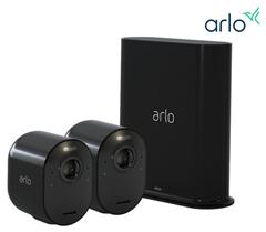 Bild zu Arlo Ultra Black 4K-Überwachungskamera 2er Set + SmartHub für 435,90€ (Vergleich: 597,11€)