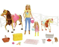 Bild zu Mattel Barbie Reitspaß Spielset mit Chelsea, Pferd und Pony (FXH15) für 23,09€ (Vergleich: 54,99€)