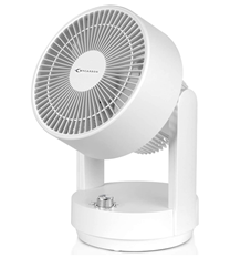 MYCARBON Tischventilator Leise Ventilator Luftzirkulator Oszillierend Lüfter Leise 360°Zy[...]