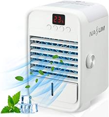 NASUM Mini Klimaanlage, 3 in 1 Mobile USB Luftkühler Verdunstungs Luftbefeuchter Luftrein[...]