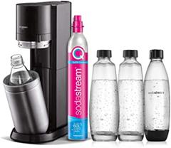 SodaStream Wassersprudler DUO mit CO2-Zylinder, 2x 1L Glasflasche und 2x 1L spülmaschinen[...]