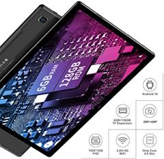 Bild zu TECLAST M40 Tablet 10.1 Zoll (6GB RAM, 128GB ROM, LTE + 5G WiFi, Android10 , Octa Core 2.0Ghz, 1920x1200FHD, 5MP+8MP Kamera,  6000mAh, 512GB TF) für 154,99€