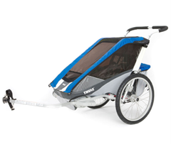 THULE Kinderfahrradanhänger Chariot Cougar 2 Blue - babymarkt de