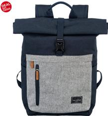 travelite Laptoprucksack »Basics Rollup, Marine Grau« online kaufen OTTO
