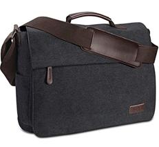 Umhängetasche Herren aus Vintagem Segeltuch, Premium Herrentasche, Laptoptasche für 15,6 [...]