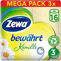 Zewa Toilettenpapier trocken bewährt Kamille, 3-lagig, 3er Pack (3 x 16 Stück) Amazon de [...]