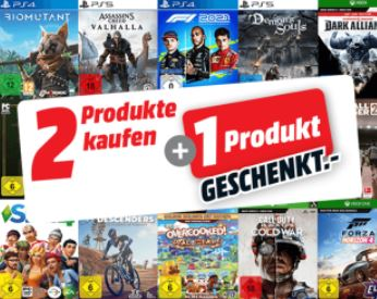 Bild zu MediaMarkt: 2 Spiele kaufen + 1 Spiel geschenkt (PS4, PS5, Xbox und PC)