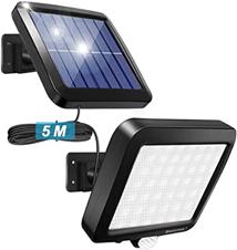 56 LED Ultrahelle Solares Leuchte mit Bewegungsmelder (Kabel 16 5ft) Amazon de Beleuchtung