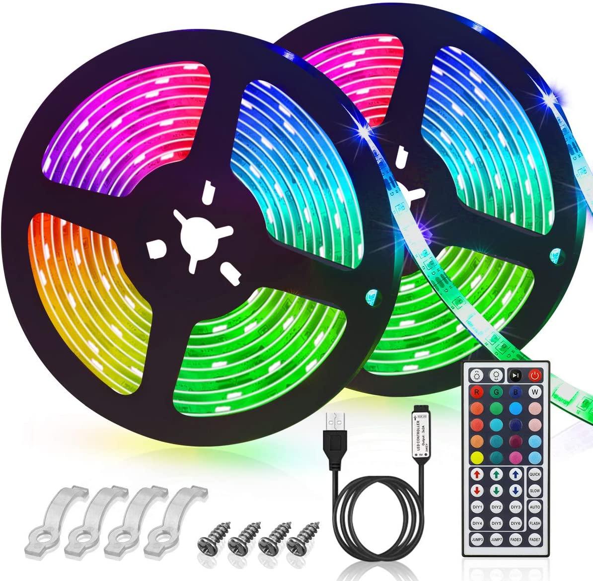 Bild zu 6 Meter Glime RGB LED-Streifen mit IR-Fernbedienung (2 x 3 Meter) für 8,49€
