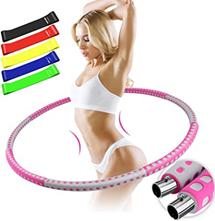 BAIYING Hula Hoop Reifen Erwachsene, Fitness Hoola Hoop für Gewichtsabnahme und Massage, [...]