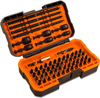 Bit Set, TACKLIFE 60 tlg Professioneller Schrauberbit Set, Torsion-Design, S2-Stahl, Farb[...]