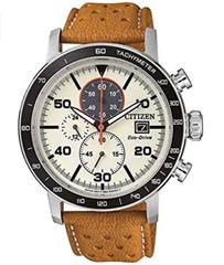CITIZEN Herren Chronograph Quarz Uhr mit Leder Armband CA0641-16X Amazon de Uhren