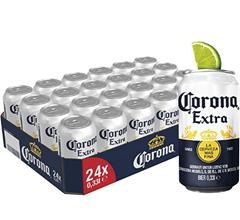 Corona Extra Premium Lager Dosenbier, EINWEG (24 X 0 33 L), Internationales Lager Bier Am[...]