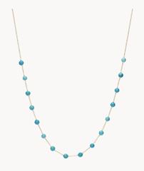 Bild zu Fossil Halskette Tranquil Summer Edelstahl in Türkis für 15,20€ (statt 39€)