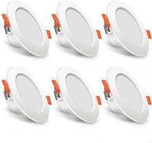 LED Einbaustrahler flach SOLMORE 7W 230v LED Einbauleuchte 3000K Warmweiß mit 400lm, Bad [...]