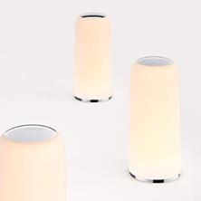 LED Nachttischlampe, Berührungssteuerung Tischleuchte, Warm Weißes Licht, Berührungssensi[...]
