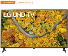 Bild zu LG 43UP75009LF LCD TV (Flat, 43 Zoll / 108 cm, UHD 4K, SMART TV, webOS 6.0 mit LG ThinQ) für 284,75€ (VG: 349€)