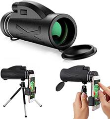 LIUMY Einloch-Mehrfachteleskop, 80x100, Mattschwarz, ausgestattet mit Fester Handyhalteru[...]