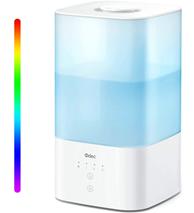 Luftbefeuchter Top Fill 2 5L Cool Mist Luftbefeuchter mit 7-Farben-LED-Nachtlicht, Diffus[...]