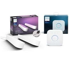 Philips Hue White and Color Ambiance Play Lightbar 2-er Pack inkl Hue Bridge, weiß, bis z[...]