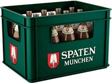SPATEN Münchner Hell Flaschenbier, MEHRWEG (20 x 0 5 l) im Kasten, Helles aus München Ama[...]