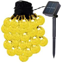 VIFLYKOO Solar Lichterkette Außen, LED Solar Lichterkette mit Kristall Kugeln Beleuchtung[...]