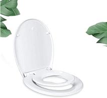 WC Sitz Familien, Toilettensitz Mit Abnehmbarer Kindersitz, 2 Facher Soft-Close Funktion,[...]