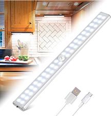 40 Led Schranklicht, Led Schrankbeleuchtung mit Bewegungsmelder 4 Modi Magnetstreifen,Wie[...]