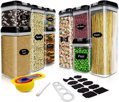 AYAOQIANG Vorratsdosen Set Frischhaltedosen, Luftdicht Schüttdose Kunststoff Aufbewahrung[...]