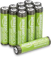 Basics AAA-Batterien mit hoher Kapazität, wiederaufladbar, 850 mAh, 12 Stück, vorg[...]