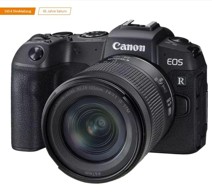 Bild zu CANON EOS RP Systemkamera mit Objektiv 24-105 mm (7,5 cm Display Touchscreen, WLAN) für 888€ (VG: 1145€)